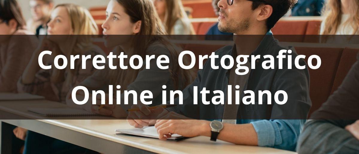 Correttore Ortografico Online in Italiano